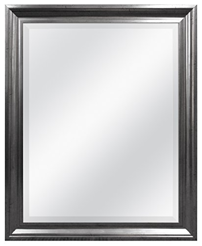 MCS Aged Pewter Rectangular Wall Mirror, 26-Inch by 32-Inch