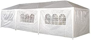 Palm Springs 10- x 30-Foot White Party Tent Gazebo Canopy with Sidewalls by Palm Springs