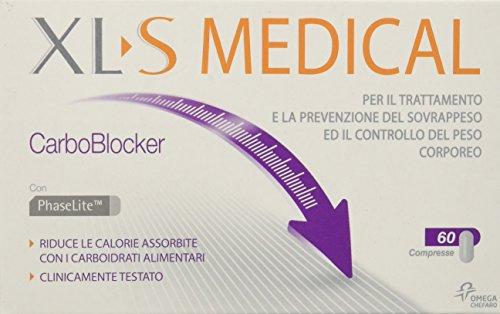 XL-S Carboblocker Prodotto per il Trattamento del Sovrappeso Medical, 60 Compresse