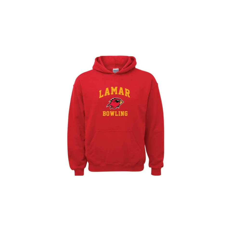 Lamar Cardinals Red Youth Bowling Arch Hooded Sweatshirt