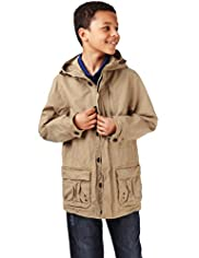 Pure Cotton Lightweight Hooded Parka with Stormwear&#8482;