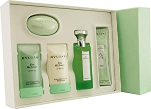 Bvlgari Green Tea by Bvlgari for Men and Women. Set-Eau De Cologne Spray 2.5-Ounces & Body Lotion 2.5-Ounces & Shower Gel 2.5-Ounces & 2X .4-Ounces Re