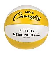 Champion Sports Leather Medicine Ball