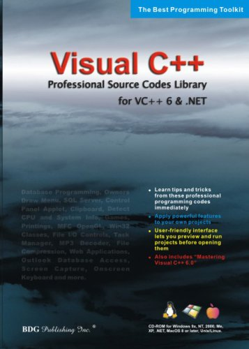 BDG PUBLISHING Visual C++ Source Code for Visual C and .NET (Windows/Macintosh)