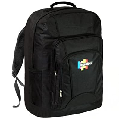 karabar sac dos appropri comme bagage main dans l 39 avion grand sac de voyage de 44 litres. Black Bedroom Furniture Sets. Home Design Ideas