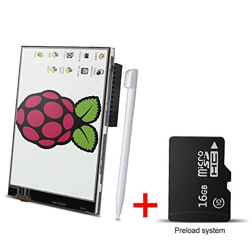 Purchase for Raspberry Pi 3 Model B , Kuman 3.5 Inches Touch Screen Display Monitor 480x320 LCD Kit ...