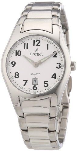 Festina F16503/1 - Reloj analógico de cuarzo para mujer con correa de acero inoxidable, color plateado