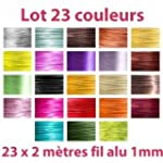 Lot 23 couleurs x 2 m�tres de fil alu...