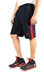 Repugn's Ad Nauseam Polyester Woven Shorts (Navy, Small)