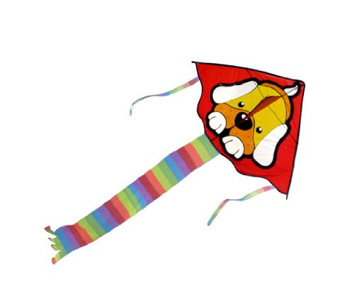 Cute Dog Kite Easy Flyer with 164 Feet String