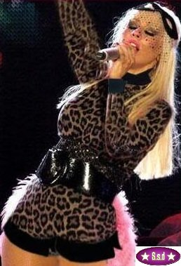 Lady Gaga Leopard Design Fancy Dress Suit Outfit