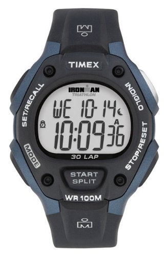 Timex Ironman Men's Digital Watch with LCD Dial Digital Display and Black Resin Strap T5H591