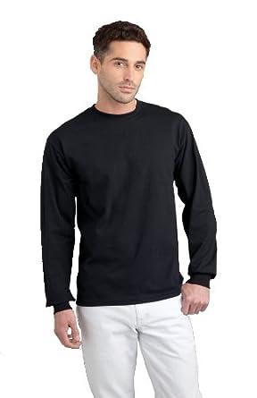 Gildan 2400 Ultra Cotton Adults Long Sleeve T-Shirt Safety Orange S