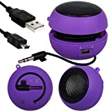 Fone-Case Sony Xperia U Mini Capsule Rechargable Loud Speaker 3.5mm Jack To Jack Input (Purple)