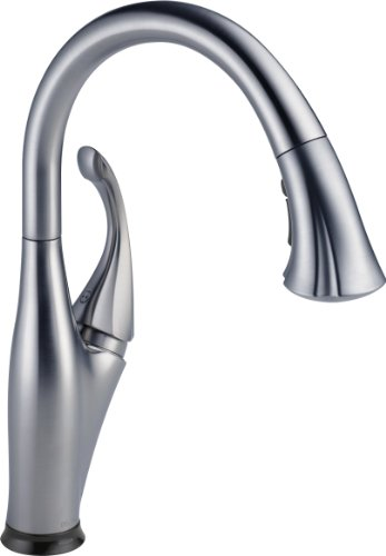 Delta Faucet 9192T-AR-DST Addison Single Handle Pull-Down Kitchen Faucet with Touch2O Technology and Magnetic Docking, Arctic Stainless (Delta Addison Touch2o compare prices)