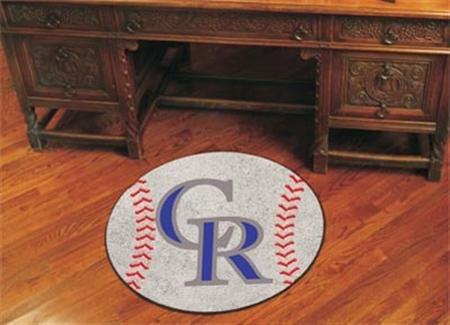 Colorado Rockies MLB Gear Baseball Area Rug Logo Mat