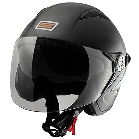 Casque moto jet ORIGINE PRIMO FALCO - Double écran - Noir mat