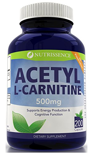 200 capsules 500mg acétyle de la L-Carnitine -