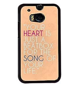 PrintVisa Metal Printed Quotes Designer Back Case Cover for HTC One M8/ M8s-D4986