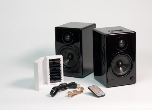 Mini iPod Dock Hifi Speakers in Black