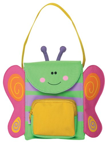 Stephen Joseph SJ4225 Snack Sac Soft-Sided Lunch Bag for Kids, Butterfly
