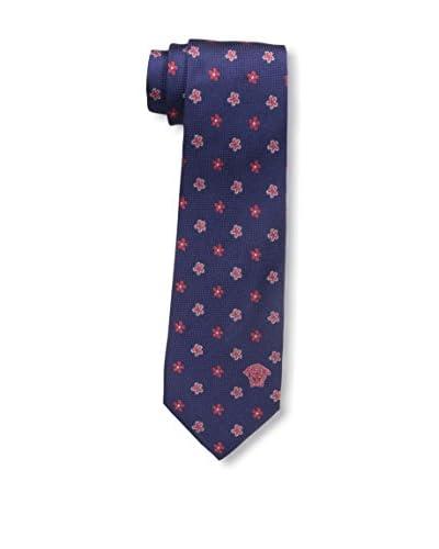 Versace Men's Printed Tie, Blue/Red