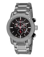 Burberry Men's BU7702 Heritage Black Chronograph Dial Bracelet Watch