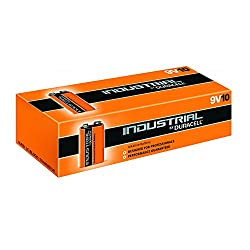 10X Genuine Duracell Industrial 9V PP3 MN1604 Block Alkaline Batteries Replaces Procell Battery Pack of 10 by Duracell