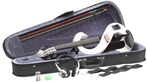 Stagg Evn 4/4 Wh Silent Violin Set With Case - White