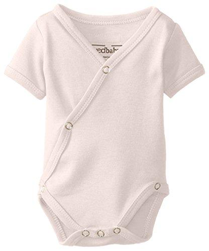 L'Ovedbaby Unisex-Baby Newborn Organic Short-Sleeve Kimono Bodysuit, Beige, Newborn front-11114