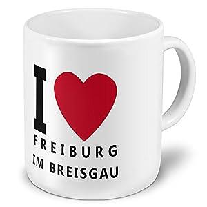 "XXL Jumbo-Städtetasse Freiburg im Breisgau - XXL Jumbotasse mit Design ""I Love Freiburg im Breisgau"" - Städte-Tasse, Städte-Krug, Becher, Mug"