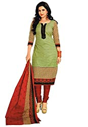 Jashvi Creation Women's Printed Unstitched Regular Wear Salwar Suit Dress Material(JC_DM_Green)