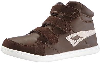 KangaROOS Adrienne Velcro 1182A, Unisex-Kinder Sneaker, Braun (brown bear/white), EU 37
