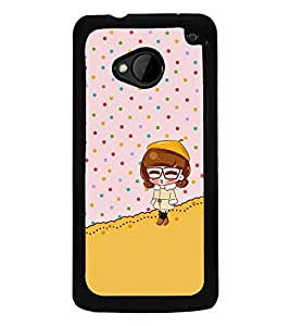 Fuson Premium 2D Back Case Cover Cute baby With white Background Degined For HTC One M7::HTC M7