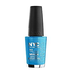N.Y.C. New York Color Minute Nail Enamel, Ny Blues, 0.33 Fluid Ounce