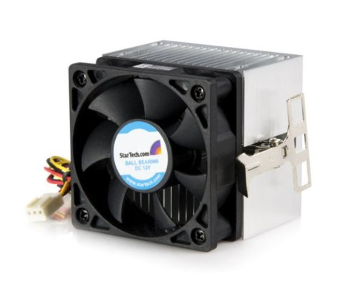 StarTech.com FANDURONTB 60x65mm Socket A CPU Cooler Fan with Heatsink for AMD Duron or Athlon (Black)
