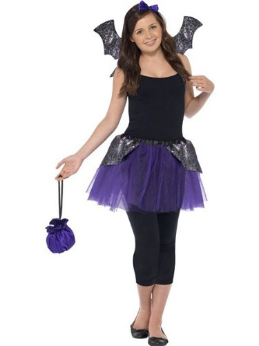 GOTHIC BAT COSTUME, HALLOWEEN FANCY DRESS ACCESSORIES, TEEN 13+, WOMENS