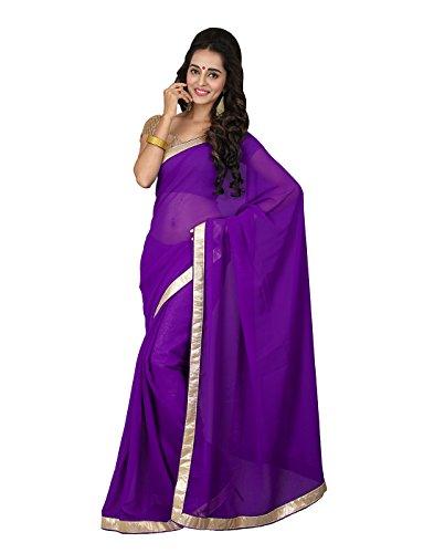 Surat Tex Pink chiffon sarees With Blouse Piece