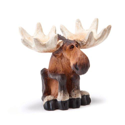 Sitting Moose Mini Figurine