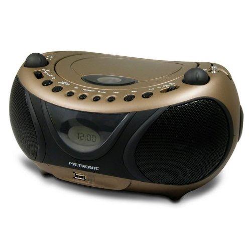 metronic 477106 radio cd mp3 2 w usb cuivre noir jouets. Black Bedroom Furniture Sets. Home Design Ideas