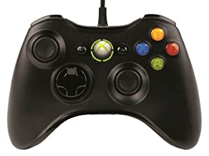 [モンスターハンター フロンティアオンライン推奨] マイクロソフト有線 ゲーム コントローラーXbox 360 Controller for Windows リキッド ブラック 52A-00006