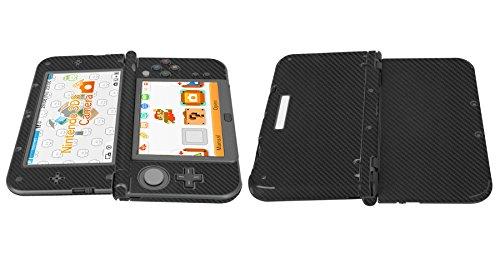 Skinomi® TechSkin - New Nintendo 3DS XL Screen Protector (2015) + Carbon Fiber Full Body Skin w/ / Front & Back Clear Film / Ultra HD & Anti-Bubble Shield (Nintendo 3DS LL Version) (Skinomi Carbon compare prices)