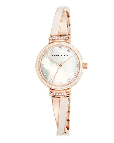 Anne Klein Women's Swarovski Crystal-Accented Rose Gold-Tone