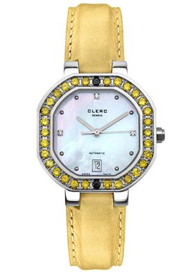 Women's C-One Automatic Yellow Diamond Light Gold Satin