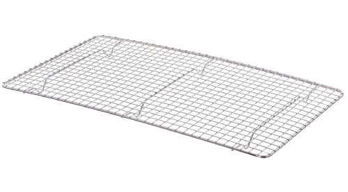 Update International PG1018 Rectangular Chrome Plated Wire Pan Grate, Full, 10-Inch