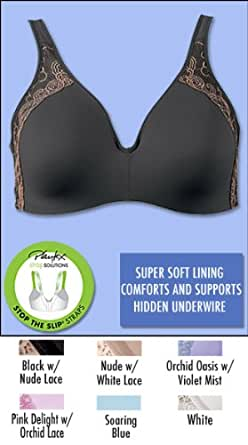 Playtex Secrets Super Soft Hidden Underwire Bra, 42DD-Soaring Blue
