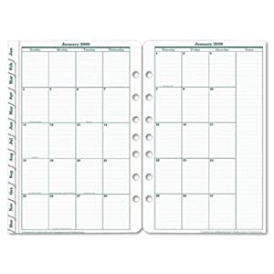 FRANKLIN COVEY Original Dated Monthly Planner Refill, January-December, 5-1/2 X 8-1/2 Inches, 2015 (FDP3539915)