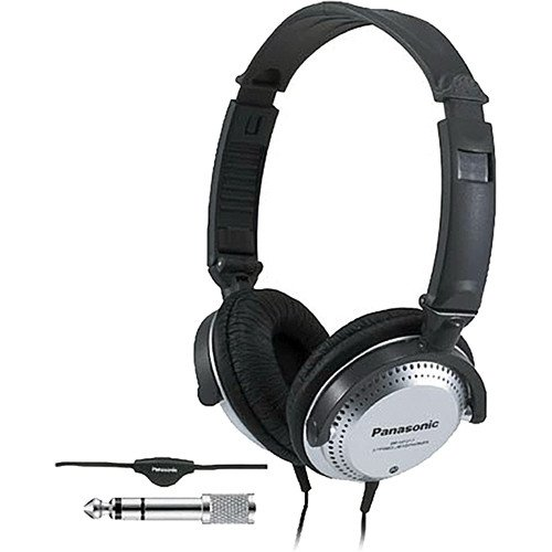 Panasonic Lightweight Extra Bass Monitor Style Headphones With In-Line Volume Control