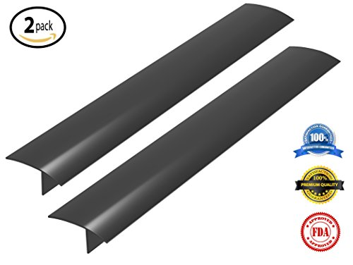 Roxima Inc. Kitchen Stove Counter Gap Covers (2 Packs) Premium Silicone Oven Spill Guard - BLACK, WHITE, CLEAR