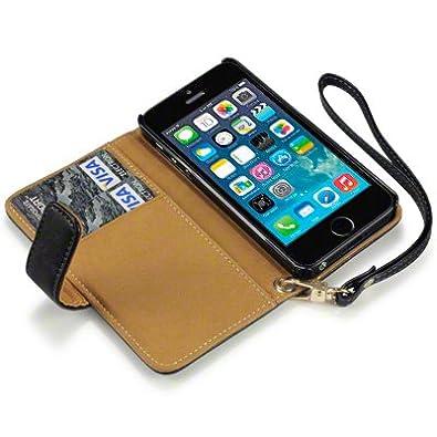 iphone 5 handy leder brieftasche case h lle mit fach f r. Black Bedroom Furniture Sets. Home Design Ideas